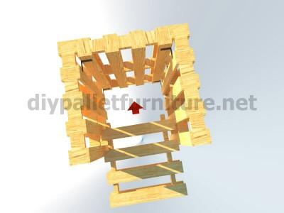 Plans et instructions pour fabriquer une chaise avec quatre palettes 10