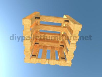 Plans et instructions pour fabriquer une chaise avec quatre palettes 11