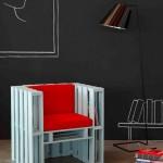 Plans et instructions pour fabriquer un fauteuil avec quatre palettes