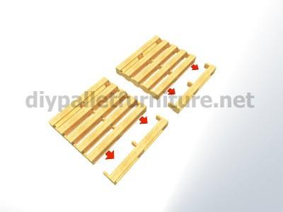 Plans et instructions pour fabriquer une chaise avec quatre palettes 3