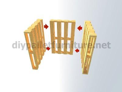 Plans et instructions pour fabriquer une chaise avec quatre palettes 5