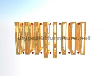 Bibliothèque ou porte-revues faite avec des palettes verticales 3