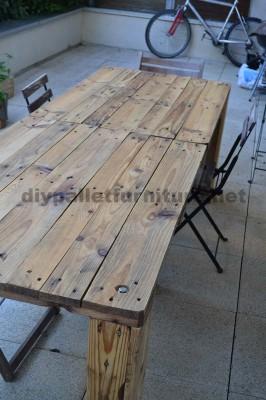 Comment faire facilement une table avec un Europallet 3