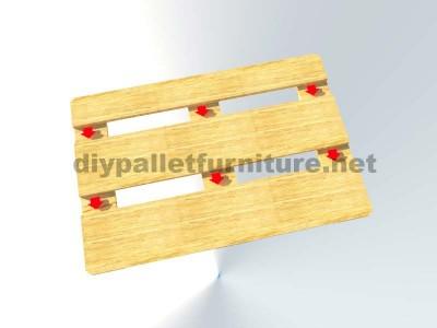 Comment faire facilement une table avec un Europallet 7