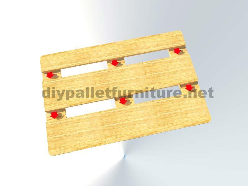 comment faire facilement une table avec un europalletmeuble en palette meuble en palette. Black Bedroom Furniture Sets. Home Design Ideas