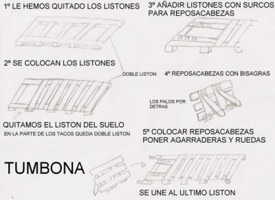 Comment faire une chaise longue avec des palettes, des dessins et des instructions 2