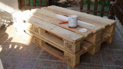 Comment faire une table de caf classiquemeuble en palette - Comment faire une table en palette ...