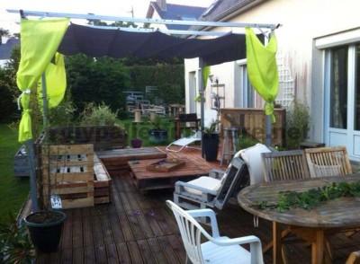 Garden Lounge fait avec des palettes 6