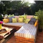 Garden Lounge fait avec des palettes