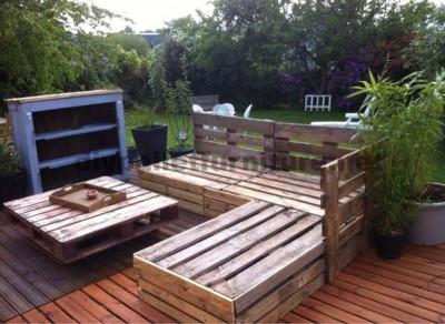 Garden Lounge mit Paletten 4