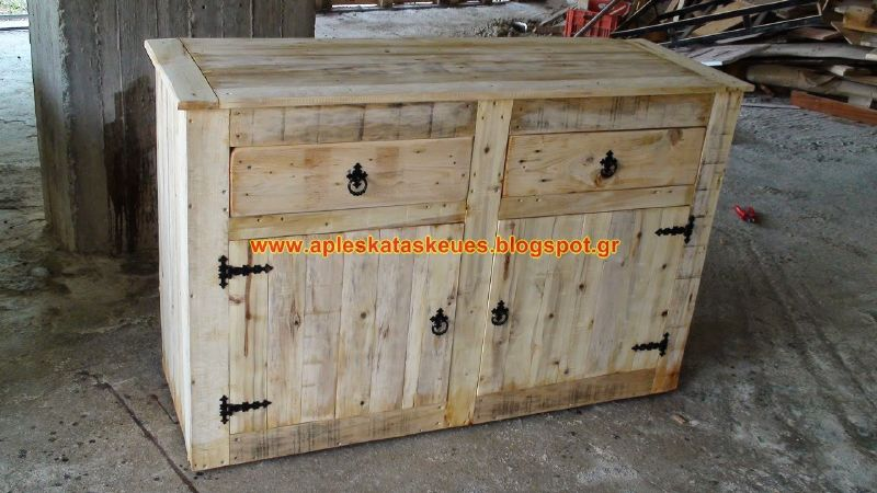 pallet usati mobili da esterno : Guide etape par etape pour construire une commode avec des palettes ...