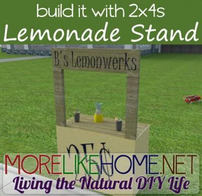 Instructions pour faire un stand de limonade avec des palettes