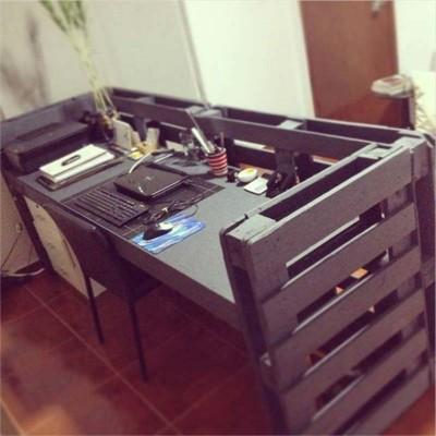 Instructions sur la façon de faire un bureau avec des palettes
