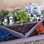 Instructions sur la façon de faire une jardinière avec des formes géométriques