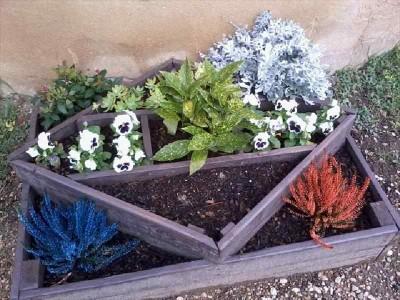 Instructions sur la façon de faire un planteur avec des formes géométriques