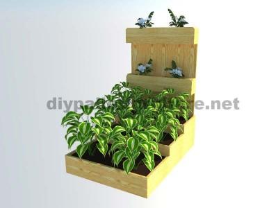Le planteur de palettes et jardin urbain avec des étapes de Manou 7