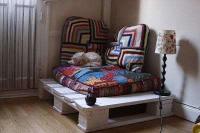 Petit coin où se relaxer ou pour votre animal de compagnie avec une palette ! 1