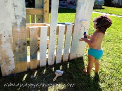 Petite maison pour les enfants en palettes 3
