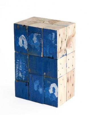 Tabourets faits à partir de blocs de bois de palettes 3