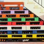 Utilisez l'espace sous votre escalier avec palettes