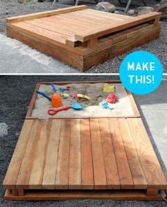 des plans pour construire un bac sable pour les enfants base de palettesmeuble en palette. Black Bedroom Furniture Sets. Home Design Ideas