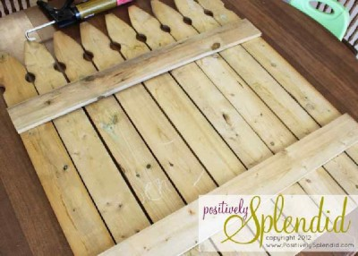Construisez votre propre clôture de la palette à des motifs