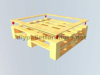Instructions sur la façon de faire une table élégante avec des palettes 2