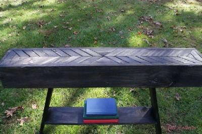 Tapes et les instructions sur la fa on de construire une for Construire une table de jardin avec des palettes