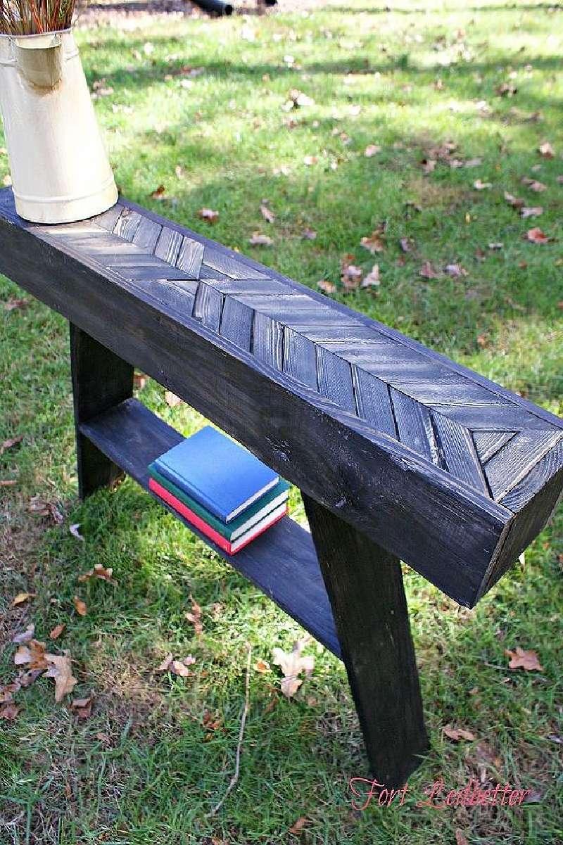 Tapes et les instructions sur la fa on de construire une - Construire une table avec des palettes ...