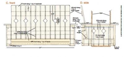 Les plans et les instructions pour construire un banc suspendu avec des palettes2