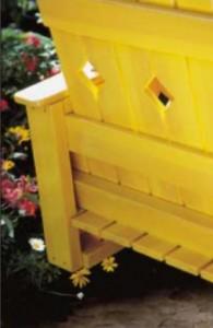 Les plans et les instructions pour construire un banc suspendu avec des palettes3