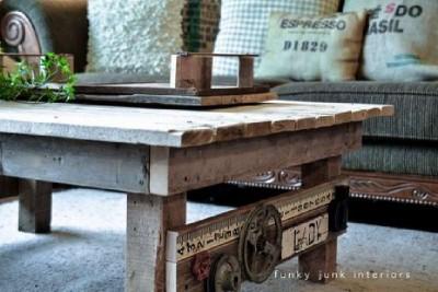 Une table faite de palettes avec un design rural, étape par étape4