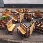 """Brothers in benches"" projet social palette fait à Johannesburg"