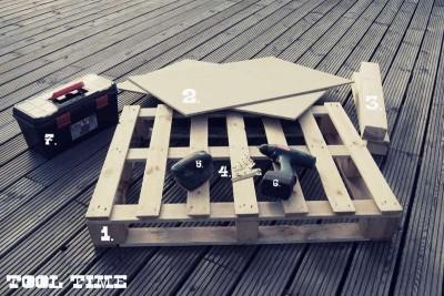 Comment construire une table juvénile pour le salon avec une palette2