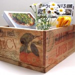 Construire et décorer une boîte de palette avec des timbres