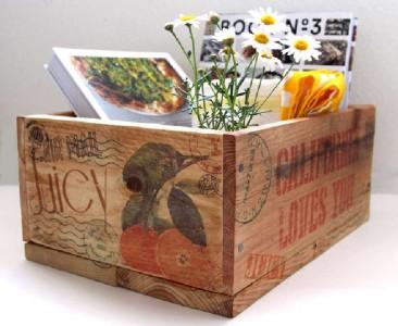 Construire et décorer une boîte de palette avec des timbres1