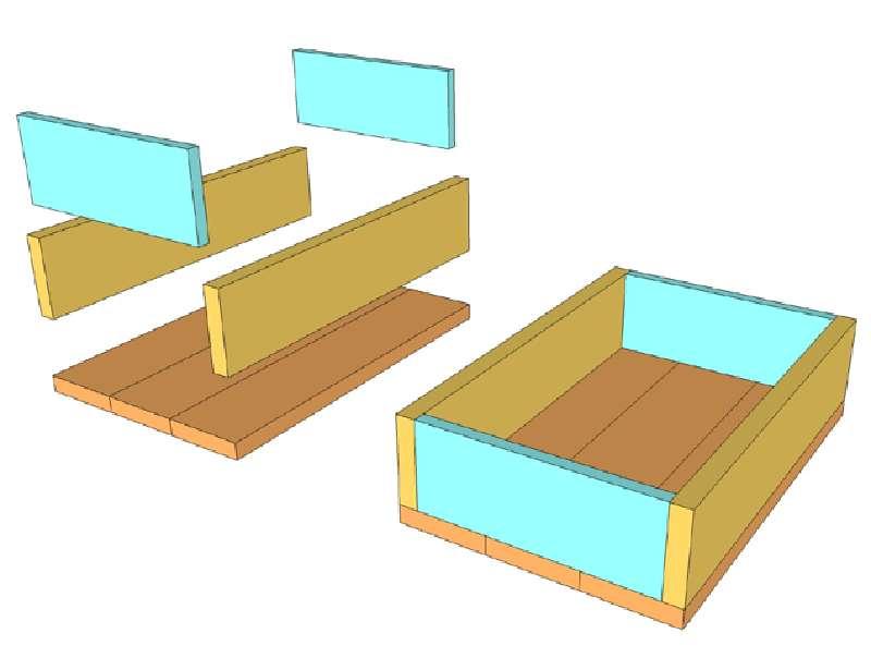 construire et d corer une bo te de palette avec des timbresmeuble en palette meuble en palette. Black Bedroom Furniture Sets. Home Design Ideas
