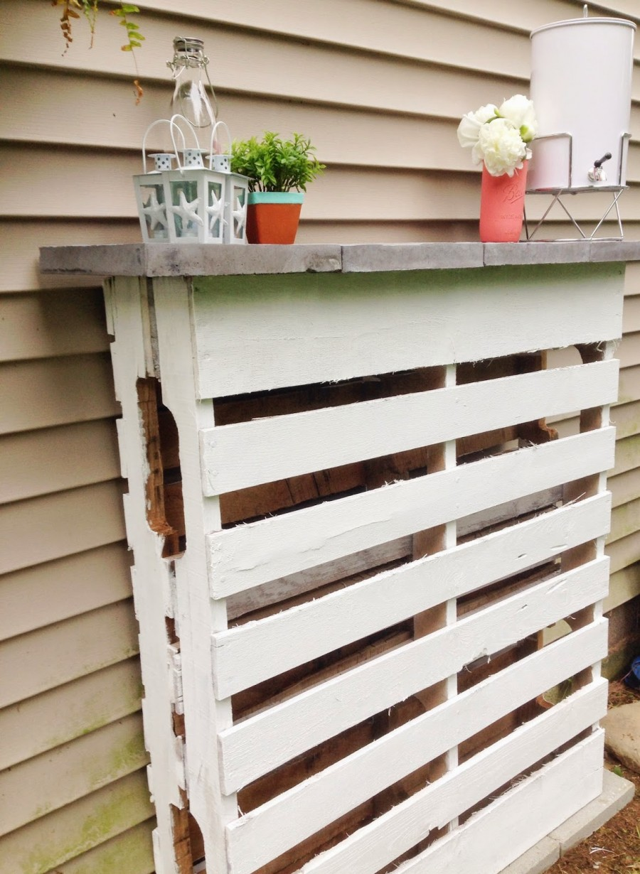 Construire un bar avec 2 palettes pour votre jardinmeuble for Construire sa maison en palette