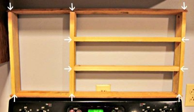 Construire un organisateur des espèces de palettes pour votre cuisine3
