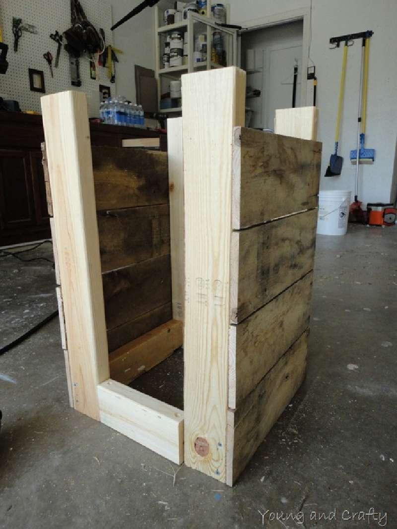 Construire un planteur mobile avec palettesmeuble en - Construire un meuble en palette ...