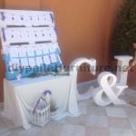 Mariage plan de table faite avec des palettes