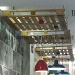 Support de plafond lampes avec une palette
