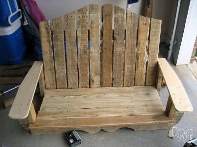 un swing tr s simple faite avec des palettesmeuble en palette meuble en palette. Black Bedroom Furniture Sets. Home Design Ideas