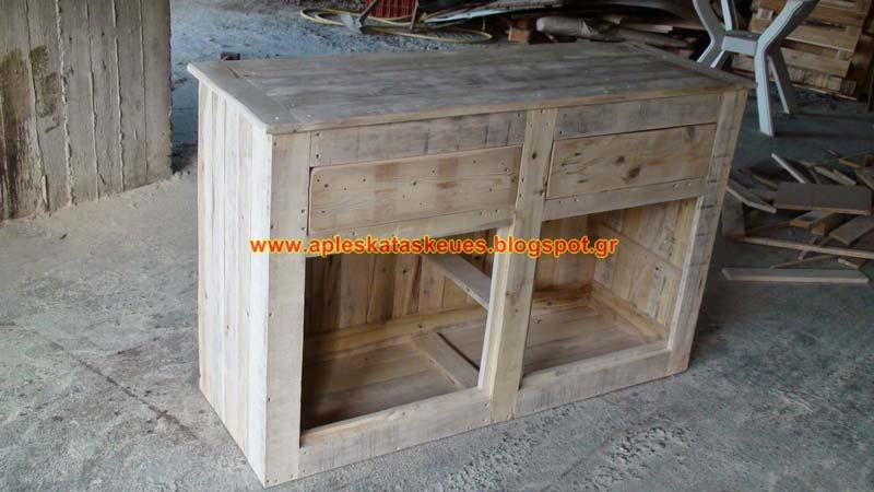 commode 2meuble en palette meuble en palette. Black Bedroom Furniture Sets. Home Design Ideas