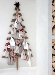 12 idées pour concevoir un arbre de Noël avec des palettes3