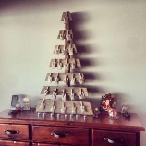 12 idées pour concevoir un arbre de Noël avec des palettes4