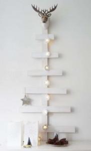 12 idées pour concevoir un arbre de Noël avec des palettes5