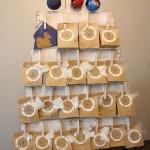 Calendrier de l'Avent avec des palettes pour Noël