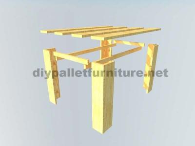 Les plans visant à faire une table avec palettes planches2