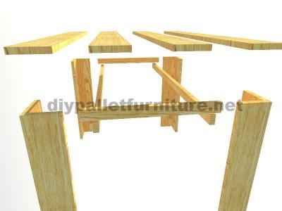 Les plans visant à faire une table avec palettes planches3